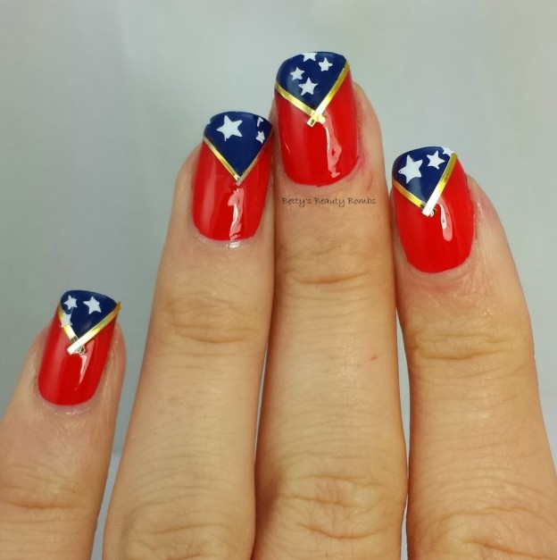 Wonder Woman Inspired Mani