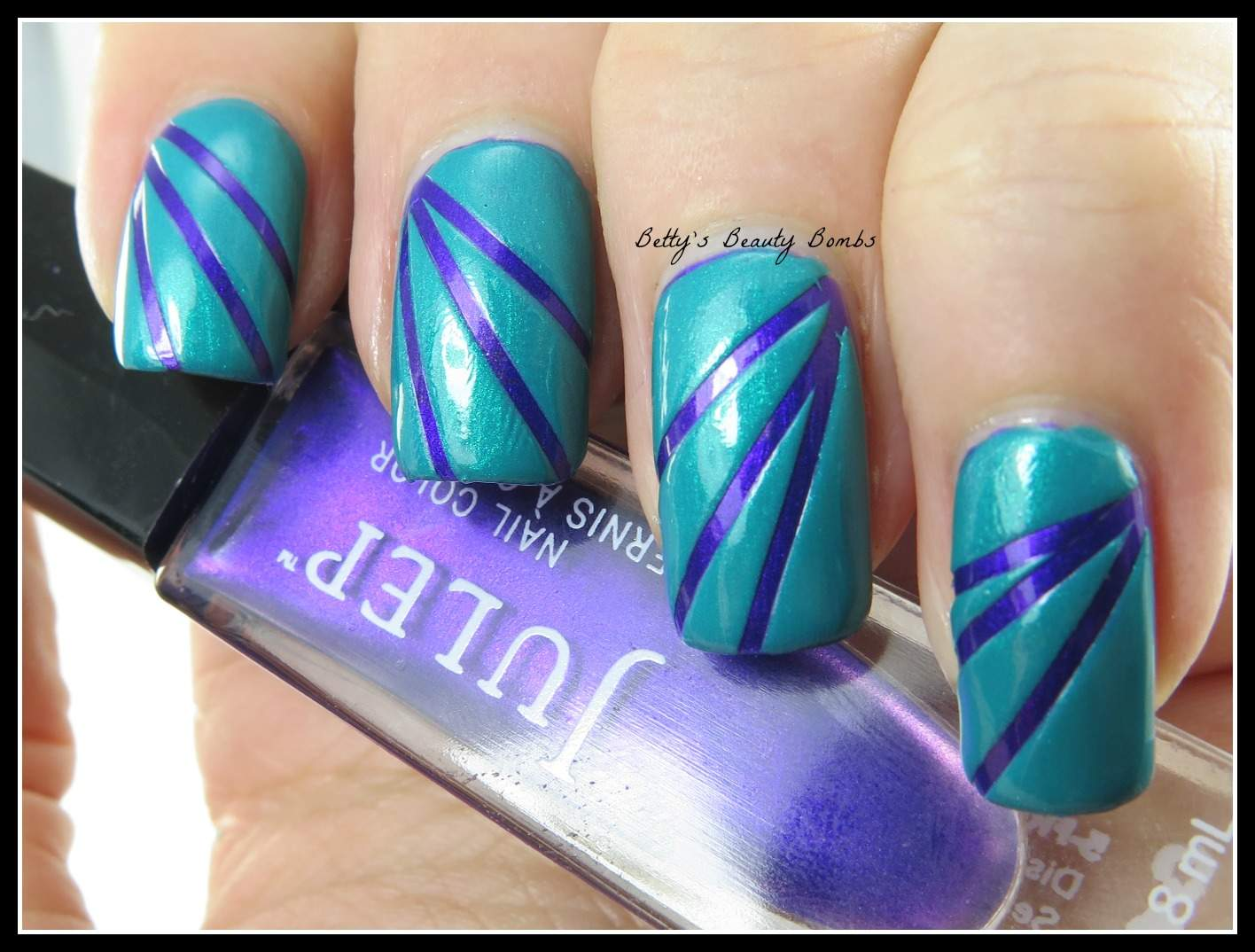 Striping Tape Nail Art for Golden Oldies Tuesday! - Lazy Betty