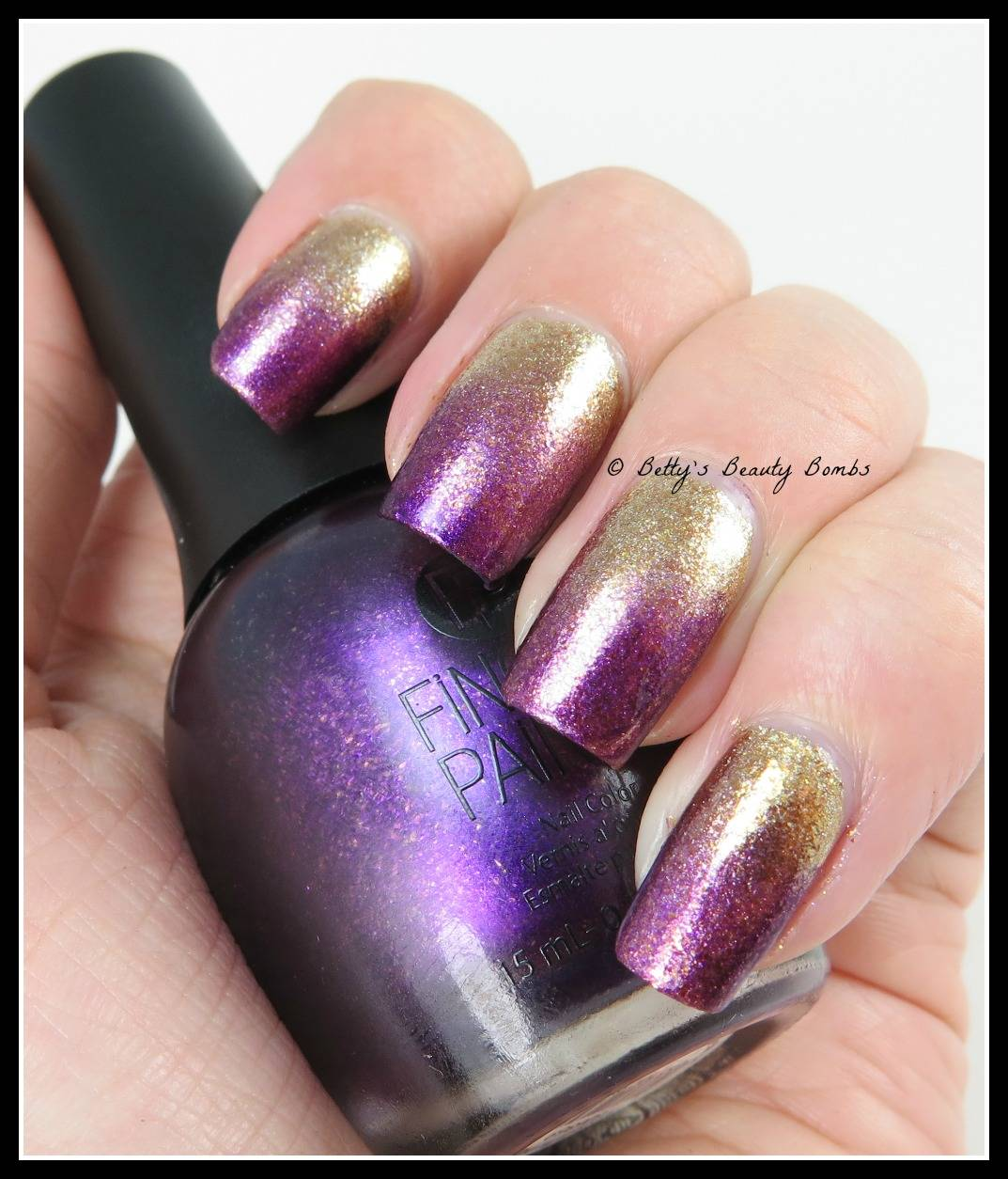 Gradient Nail Art: Golden Gradient Nail Art