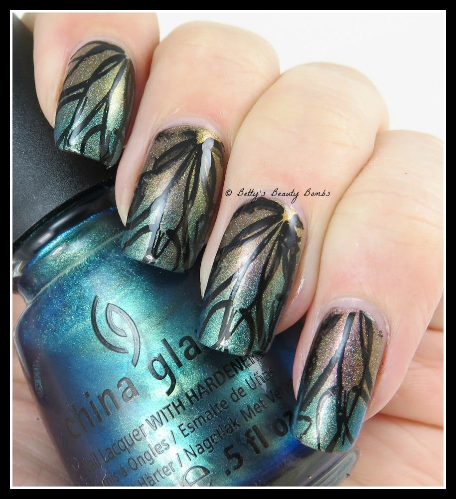 Diy Autumn Gradient Nail Art: Autumn Nail Art Gradient Leaves