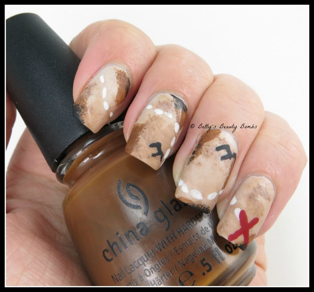 Treasure-Map-Nail-Art