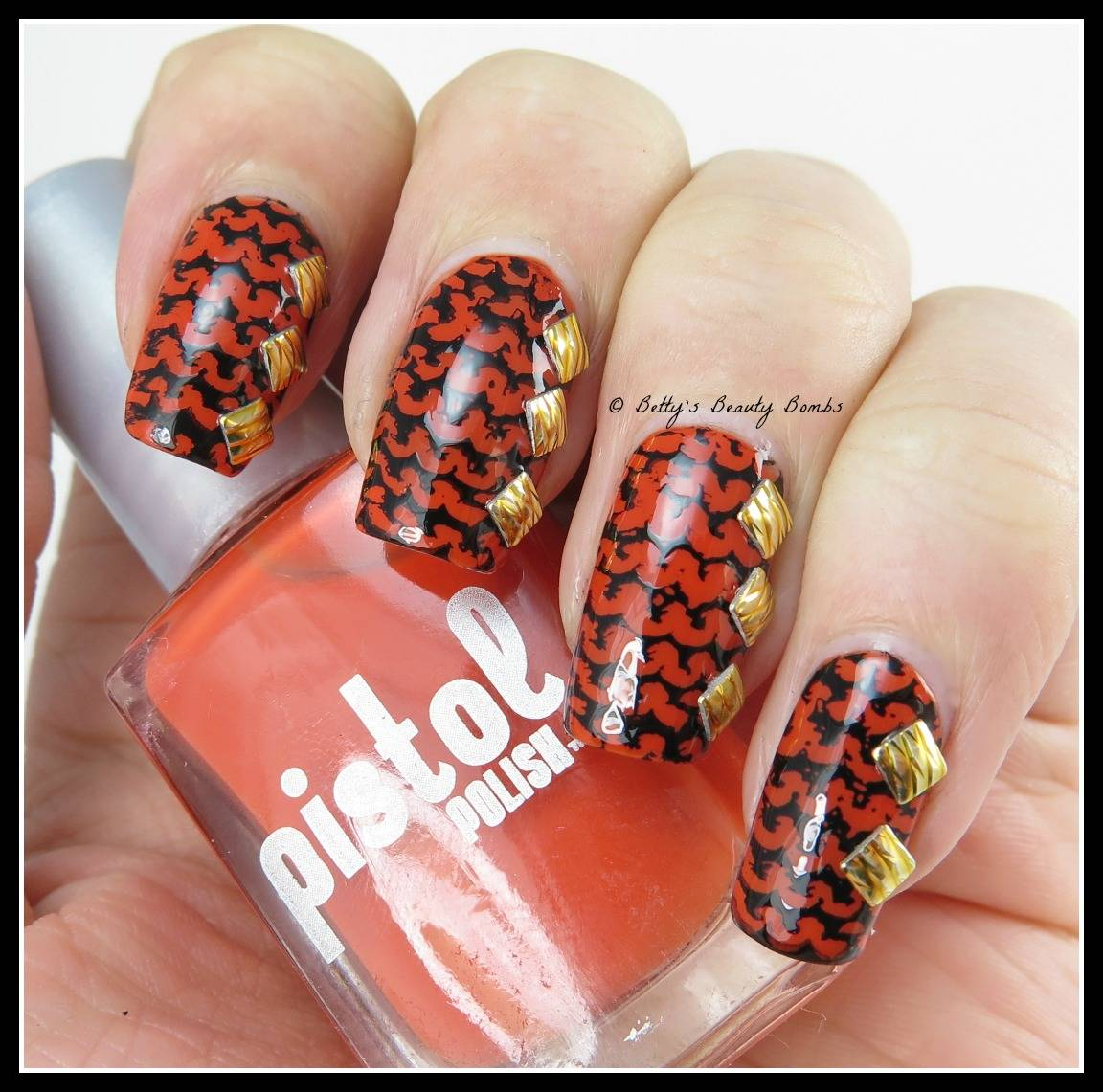 Hpb Oct Halloween Mani Link Up Graveyard Nail Art Lazy Betty