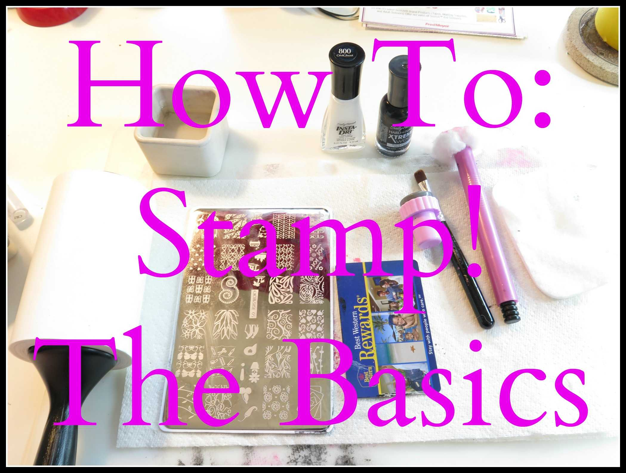 Nail art 101 the basics of stamping lazy betty prinsesfo Images