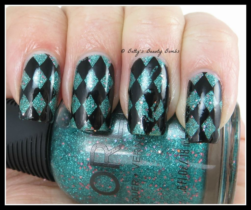 Orly Steal The Spotlight Checkerboard Nail Art Lazy Betty