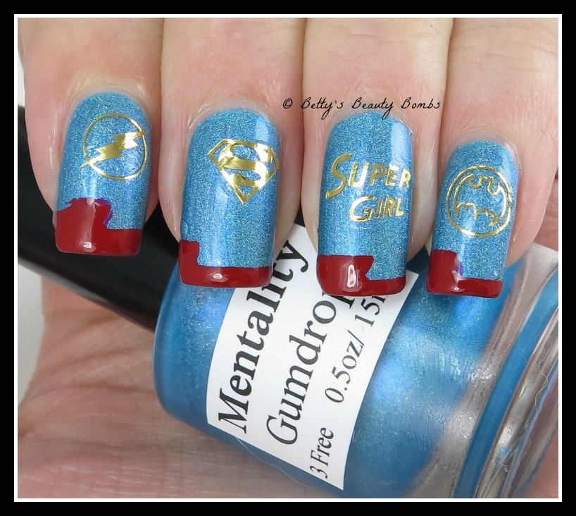 Nail Art Supplies Store: SuperGirl Nail Art Using Born Pretty Store Supplies