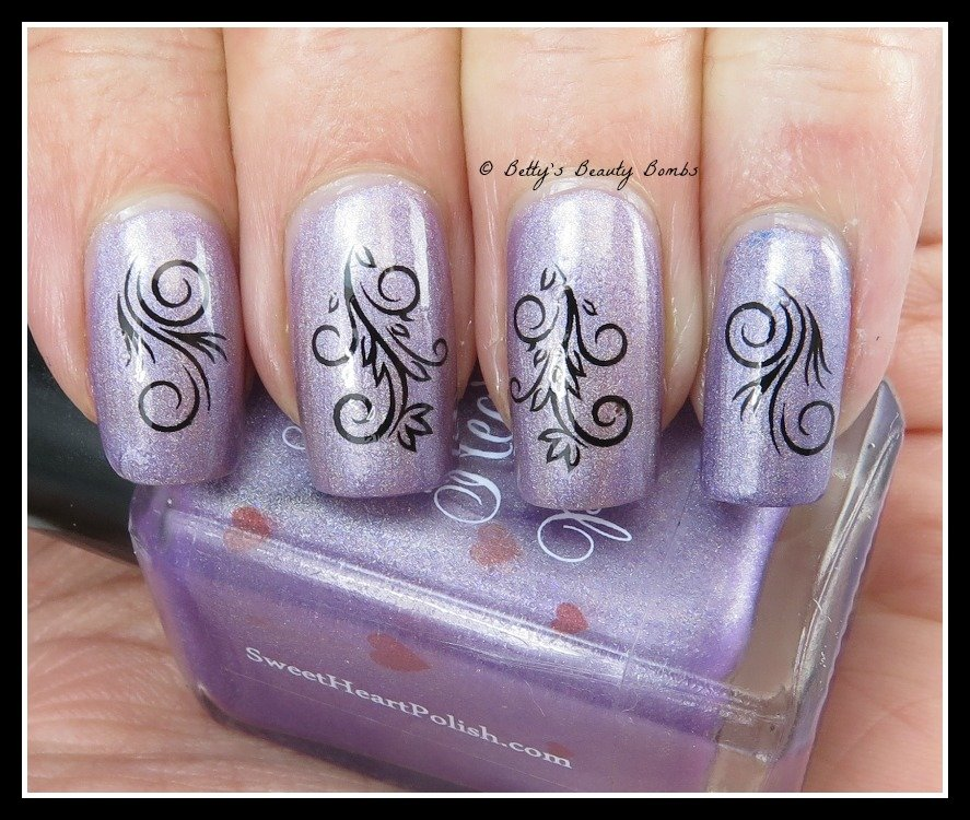 Sweet-heart-polish-nail-art