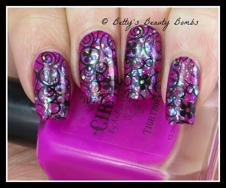 stamping-over-glitter