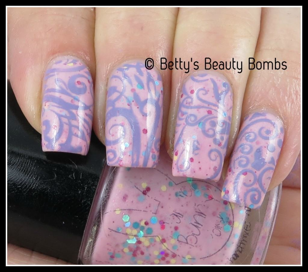 Mango Bunny Polish Pink And Purple Mani
