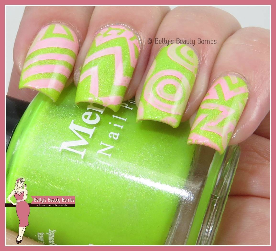 Green-and-pink-nail-art