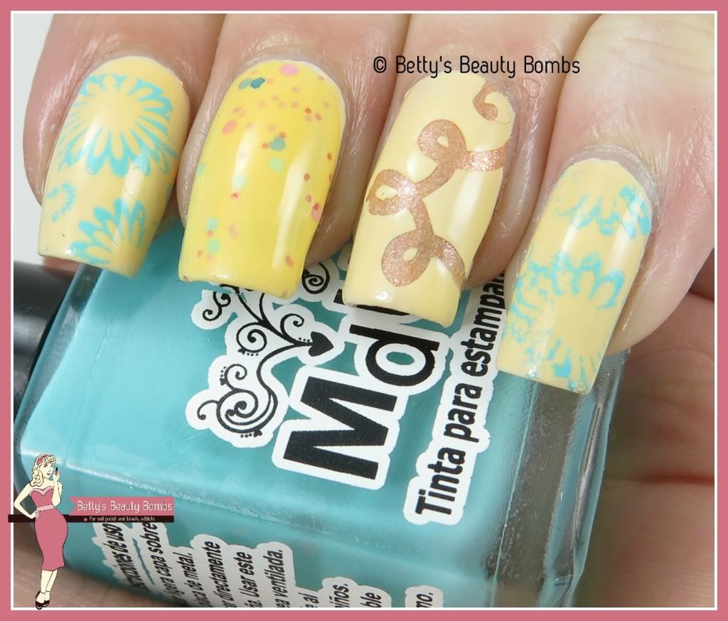 Yellow Skittle Nail Art Lazy Betty