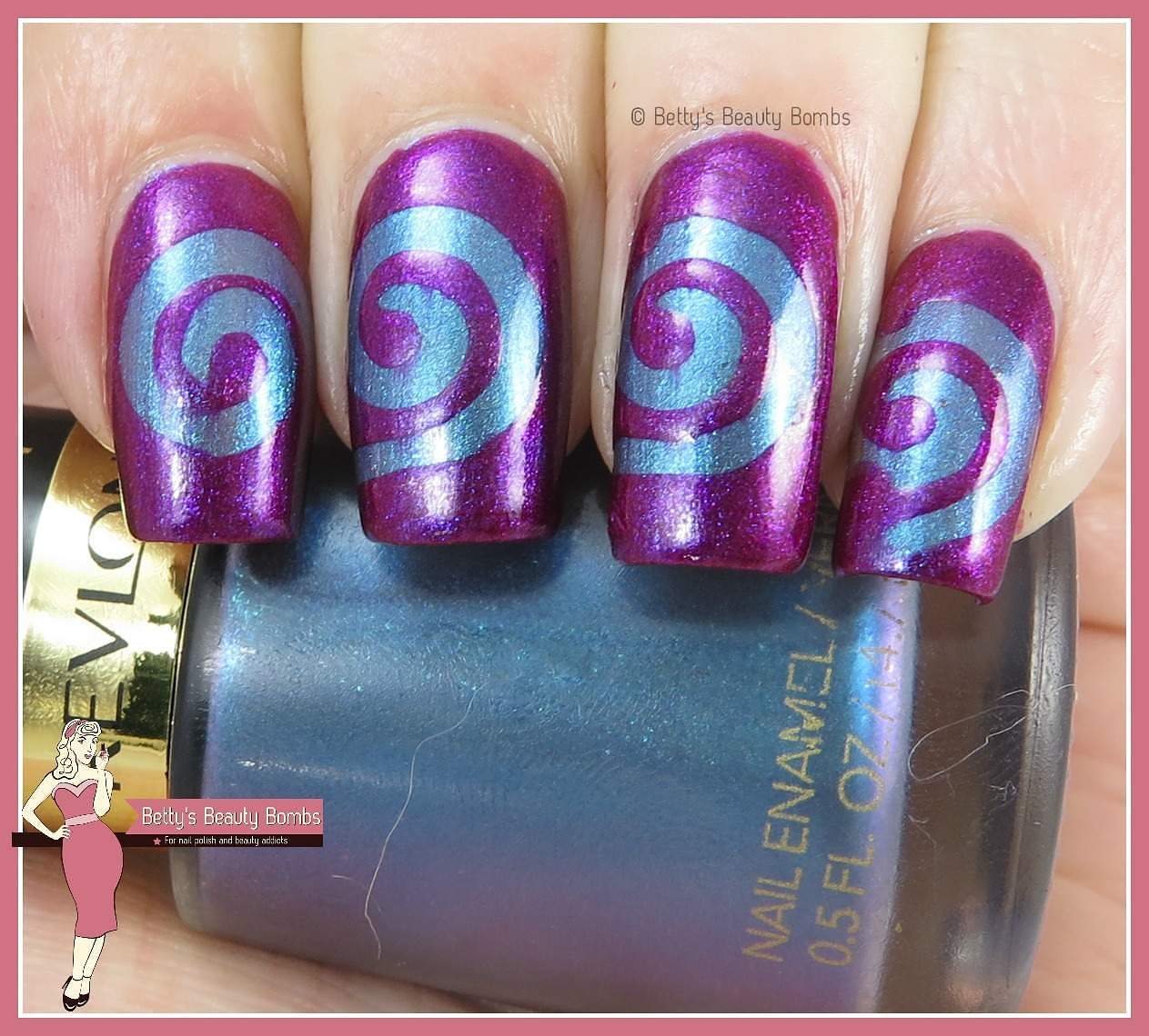 Swirly Nail Art Design Lazy Betty