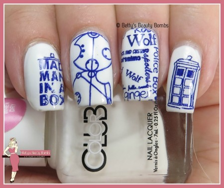 Tardis Nail Art Lazy Betty