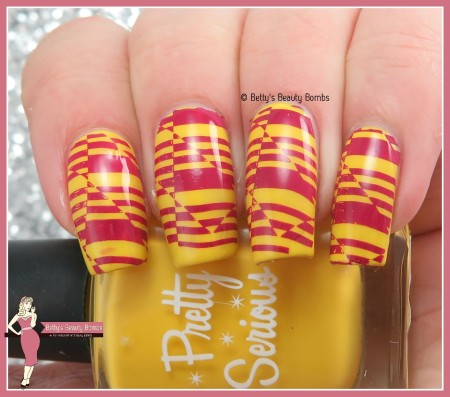 yellow-and-wine-stamping-nail-art