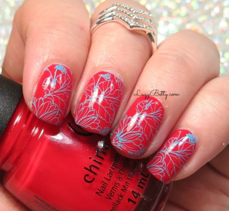 red-and-blue-nail-art