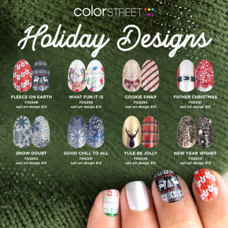 Christmas In July Color Street.Color Street Holiday 2019 Collection Lazy Betty