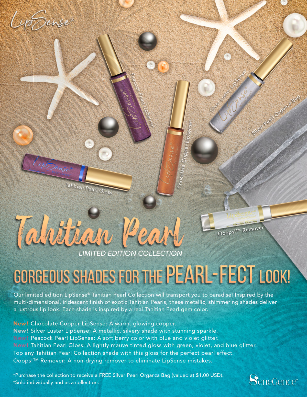 Introducing The LipSense Tahitian Pearl Collection